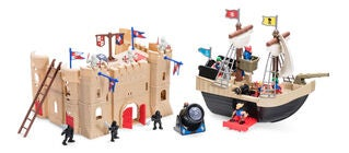 Redbox Pirate Ship & Castle Playset