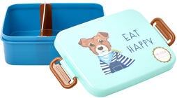Rice Lunchbox Mit Trennwand Farm Animals, Green/Blue