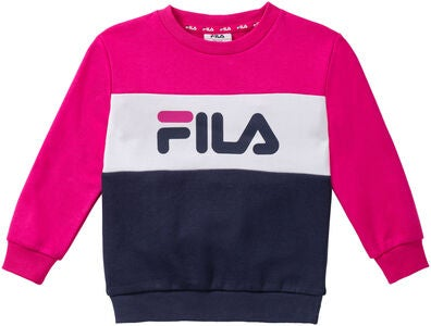FILA Night Blocked Crew Pullover, Pink