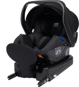 Axkid Modukid Infant Babyschale, Black Inkl. Basisstation