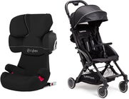 Cybex Solution X2-Fix Silver Line Reisepaket Beemoo Easy Fly Buggy, Black