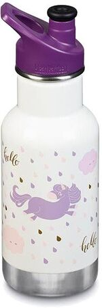 Klean Kanteen Insulated Kid Classic Sports Cap Trinkflasche 355ml, Unicorn Leap