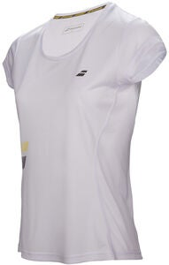 Babolat Core Flag Club Girl T-Shirt, Weiß