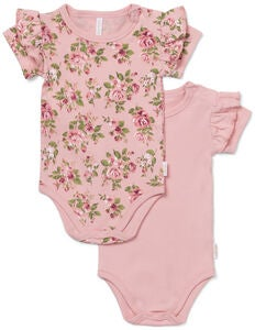 Petite Chérie Atelier Catrin Body 2er-Pack, Pink/Flowers