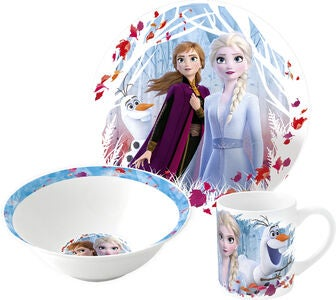 Disney Die Eiskönigin Essensset Keramik, Blau