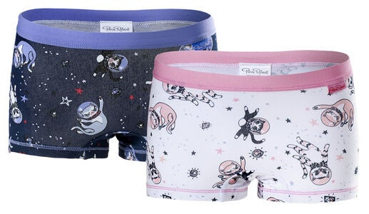 Pierre Robert 2er-Pack Pantys, Navy/White