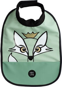 babyLivia Lätzchen Fox, Powder Green