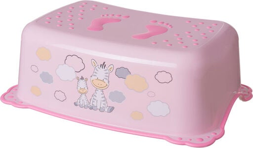 Maltex Rutschfester Hocker Zebra, Light Pink