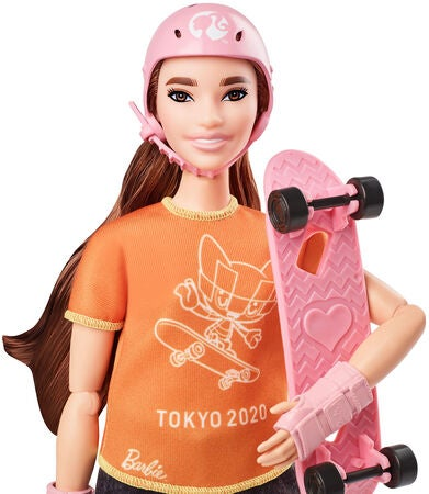 Barbie Olympics Puppe Skateboarder