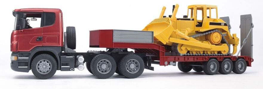 Bruder Scania R-Series LKW Mit Cat Bulldozer 03555