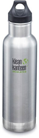 Klean Kanteen Insulated Classic Loop Cap Trinkflasche 592ml, Brushed Stainless
