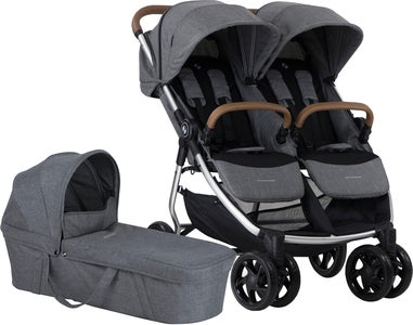 Crescent Duo Lightway Geschwisterwagen, Grey Melange