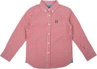Lyle & Scott Junior Gingham Check Hemd, Royal Red