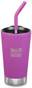 Klean Kanteen Insulated Tumbler Mit Trinkhalmdeckel 473ml, Berry Bright