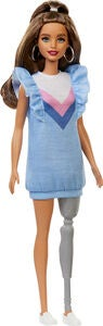 Barbie Fashionistas Puppe 121 Blue Ruffle Dress