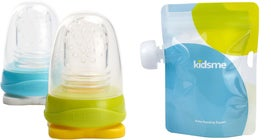 Kidsme Reuseable Food Pouch, 4x180ml Inkl. Adapter