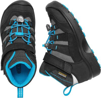 KEEN Hikeport Mid WP Wanderschuhe, Black/Blue Jewel