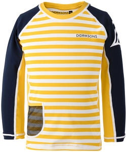 Didriksons Surf UV-Shirt, Yellow Simple Stripe