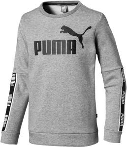 Puma Amplified Crew Shirt, Medium Grey Hea