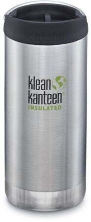 Klean Kanteen TKWide Wide Café Cap Thermosbecher 355ml, Brushed Stainless