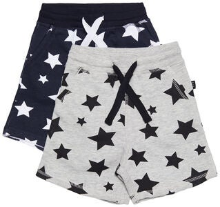 Luca & Lola Fabriano Shorts 2er-Pack, Night Sky/Grey Melange