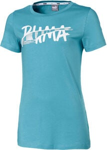 Puma Logo T-Shirt, Blue
