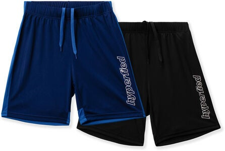 Hyperfied Flip Shorts 2er Pack, Black/Blueprint