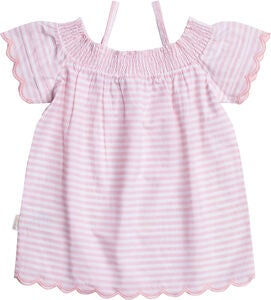 Petite Chérie Atelier Phillipa Top, White/Pink
