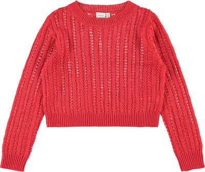 Name it Livia Pullover, Poppy Red