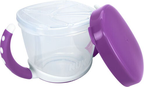 NUK Easy Learning Snack Box Brotdose, Violet