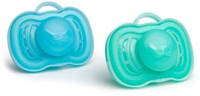 Herobility Pacifier Schnuller 0M+ 2er-Pack, Blue/Turquoise