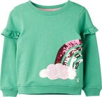 Tom Joule Tiana Pullover, Green Sequin Rainbow