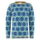 Vossatassar Monsterull Pullover, Light Blue