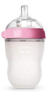Comotomo Natural Feel Babyflasche 250 ml, Rosa