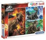 Jurassic World Puzzle 3x48 Teile