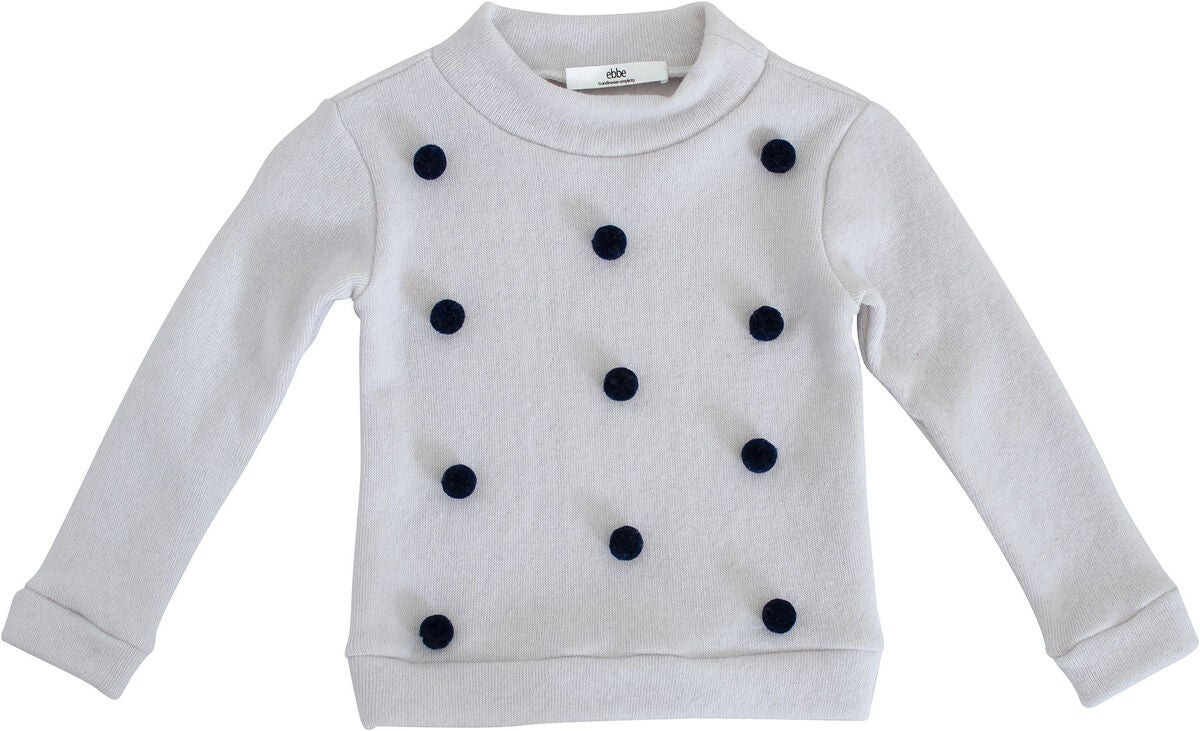 Ebbe Valerie Dot Sweatshirt, White-Navy Dot