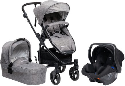 Beemoo Flexi Travel 3 Kombiwagen inkl. Babyschale, Grey Melange