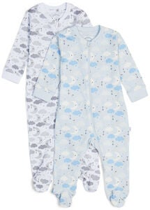 Luca & Lola Napoleone Schlafanzug 2er Pack, Blue Clouds